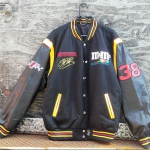 Other - Reversible M&M Racing Leather and Cloth Bomber